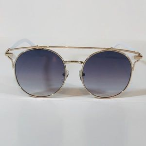 Other - Gold/White Browbar Sunglasses